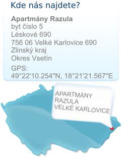 Apartmán Razula mapa